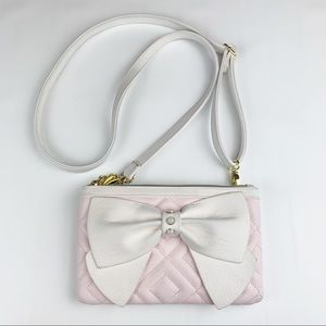 Betsy Johnson | Crossbody Quilted Bag With Bow